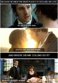 Why Elizabeth chose Mr. Darcy and not Mr. Collins...