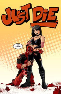 X-23 vs. Deadpool by AndrewKwan.deviantart.com on @deviantART