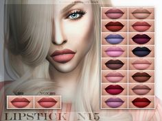 Lipstick N15 (HQ) at Fashion Royalty Sims via Sims 4 Updates