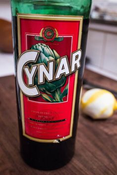 Cynar Bitter. Italian liqueur with a mildly bitter taste, artichoke based and distilled from 13 plants and herbs.