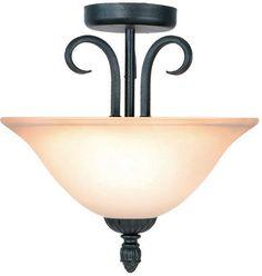 Woodbridge Lighting Jamestown Indoor Lighting Semi-Flush Mount 38006-TBK