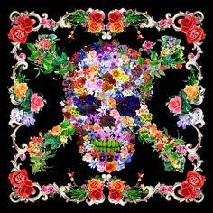 flower skull by scarfme