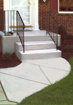 concrete walkway with design