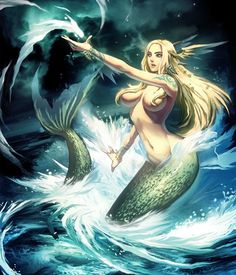 Sirens of Greek mythology are sometimes portrayed in later folklore as mermaid-like; in fact, some languages use the same word for both bird and fish creatures.