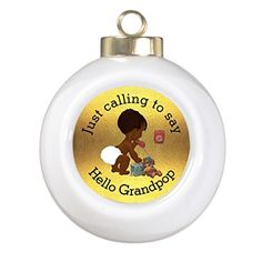Pracy Xmas Trees Decorated Just Calling to Say Hello Grandpop Santa Ball Ornaments ** You can get additional details at the image link.