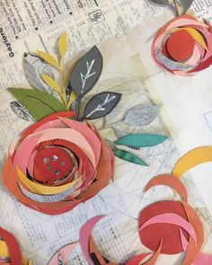 Sarah Milne is an Utah based abstract collage artist using old books and ephemera to make fine art for homes and businesses. Collage Kunst, Paper Collage Art, Cut Paper Art, Kids Collage, Torn Paper, Collage Ideas, Art Fil, Mixed Media Collage, Art Plastique