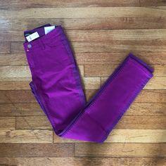 Kate Spade Skinny Jean in Two-Tone Kate Spade Two-Tone Skinny Jean in violet. NWT. kate spade Jeans Skinny