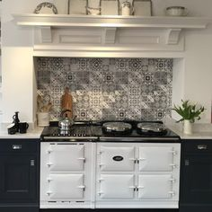 White AGA Range Cooker We love how striking a white AGA cooker looks Aga Range, Kitchen Lighting Fixtures, Kitchen Remodel, Kitchens And Bedrooms, Kitchen Design, Aga Range Cooker, Modern Kitchen, Home Decor Kitchen, Aga Cooker