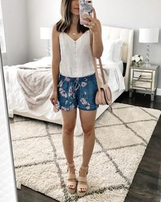 3c5b500df826 Flat Lays Come to Life No.38. Cute Outfits With ShortsJean Short  OutfitsSummer ...