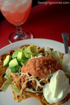 Angie's Chipotle Shredded Chicken - Taco Salad Style - Farmgirl Gourmet