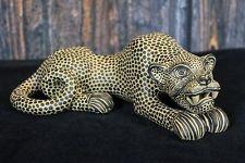 Jaguar Pottery Statue, Hand Made Mayan Chiapas Mexico Folk Art Tribal Panther