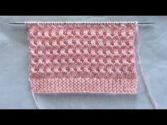 Easy pattern – Knitting patterns, knitting designs, knitting for beginners. Baby Knitting Patterns, Baby Sweater Knitting Pattern, Knitting Stiches, Knitting Videos, Lace Knitting, Knitting Designs, Crochet Stitches, Stitch Patterns, Knitting For Beginners