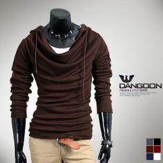 DANGOON Cowl-Neck Hooded Top
