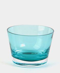 Centro turquoise, vidrio soplado a boca