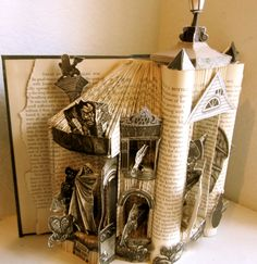 Edgar Allan Poe Altered Book Art.