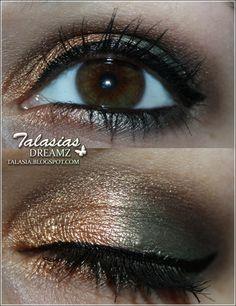 Green Gold Eye Make Up - Datum: 12.01.2012  http://talasia.blogspot.de/2012/01/amuswatch-manhattan-liquid-metals.html