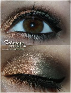 Green Gold Eye Make Up - Datum: 12.01.2012  http://talasia.blogspot.de/2012/01/amuswatch-manhattan-liquid-metals.html