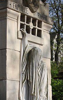Tombe de la famille Raspail in Pere Lachaise Cemetery in Paris
