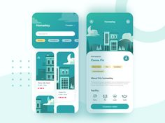 Homestay app designed by Moze for BestDream. Connect with them on Dribbble; Web Design Mobile, App Ui Design, Interface Design, User Interface, Clean Web Design, Flat Design, Design Design, Graphic Design, Design Responsive