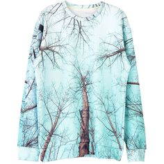 Choies Unisex Sweatshirt With Withered Branches Print (€34) ❤ liked on Polyvore featuring tops, hoodies, sweatshirts, multi, unisex tops, sweat shirts, sweatshirt hoodies, blue sweatshirt and print sweatshirt