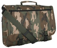 Woodland Camo Flapover Attache | Military Bags | Military Luggage