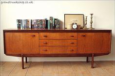Vintage Mid century White&Newton teak danish sideboard tv stand chest of drawers