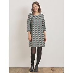 Buy Seasalt Freshwater Dress, Leaf Cobble from our Women's Dresses range at John Lewis & Partners. Weekend Style, Leaf Prints, Knee High Boots, Leather Satchel, Fresh Water, Casual Outfits, Cold Shoulder Dress, Outfit Ideas, Chic