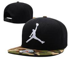 "Men's Nike Air Jordan The White ""Jumpman"" 3D Embroidery Logo Sports Fashion Snapback Hat - Black / Camo"