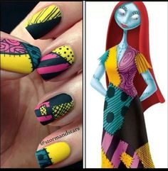 nightmare before christmas nails Disney nail art design