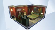 Sieh dir dieses Zimmer in der Die Sims 4-Galerie an! - #lanie#schlafzimmer#bett#rot#grün#bücher#erholung - https://www.facebook.com/LanieSimsTime/