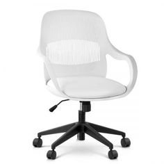 Hard PP Plastic  - Modern Office Chair with Armrests at CrazySales.com.au - Looking for a practical yet stylish office chair? Featuring modern vortex style, with adjustable height and swivel seat, it combines style and functionality all in one chair.