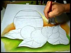 Pintura em Tecido;Hortênsias e Transparência.Parte.:1/3 - YouTube One Stroke Painting, Painting Videos, Painting Lessons, Fabric Painting, Painting & Drawing, Drawing Sketches, Drawings, Coloring Tutorial, Wire Crafts
