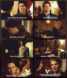Damon meeting the Originals