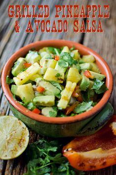 The sweetness from the grilled pineapple paired with creamy avocados are a delightful combination in this Grilled Pineapple & Avocado Salsa.