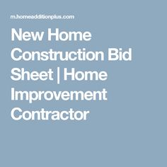Construction cost breakdown sheet a cost breakdown sheet for Home construction bids