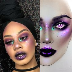 A lovely makeup from the talented ✨thank you so much very nice ✨ Halloween Make Up, Halloween Face Makeup, Halloween Ideas, Makeup Art, Beauty Makeup, Makeup Stuff, Makeup Face Charts, Rave Makeup, Makeup Trends