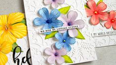 cardmaking technique video tutorial: Stamp Layering Tips by Jennifer McGuire ... Altenew floral stamps ...
