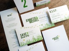 Printable Wedding Template Suite  Garden Party by empapers on Etsy, $100.00