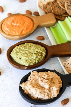 Almond Dip - 3 Ways! - Little Bits of. Paleo Dip Recipe, Almond Dip Recipe, Whole 30 Recipes, Dip Recipes, Healthy Holiday Recipes, Vegetarian Recipes, Super Clean, Super Simple, Healthy Dips