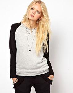 LnA Hutton Silk Sleeve Sweatshirt
