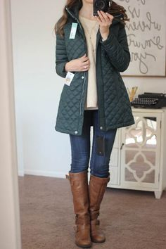 Stitch fix stylist: Savana Quilted Coat from Andrew Marc - I love the color of the coat. My hips may be a little wide for the jacket...