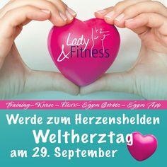 ❤️ Am 29. September ist Weltherztag! ❤️⠀ Hand aufs Herz - was tust DU für den wichtigsten Muskel in deinem Körper?🧐⠀ Der Bizeps 💪 mag zwar ein formschöner Muskel zu sein, aber es gibt einen weitaus wichtigeren Muskel welchen du auf deinen täglichen Trainingsplan schreiben solltest - dein Herz ❣⠀ Jeder kann sich besser ernähren🥦, aktiver werden 🏊♀️ und seinen Alltag gesünder gestalten. 🚲⠀ Wenn du uns noch nicht kennst, dann fang doch mit einem Probetraining bei uns an! 😃 Lady Fitness, App, Fit Women, September, Daily Workout Schedule, Biceps, Muscle, Nice Asses, Writing