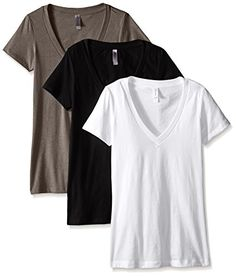 Fashionidium | Clementine Women's Deep V-Neck Tee (Pack of 3)