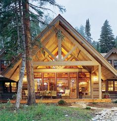 Reclaimed Wood Log Home | Sunlit Architecture