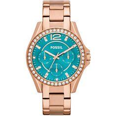 Fossil Watch, Women's Riley Rose Gold-Tone Stainless Steel Bracelet 38mm ES3385 $135