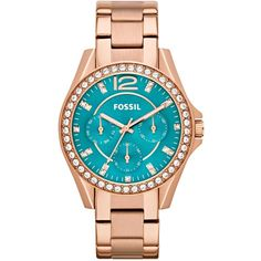 Fossil Watch, Women's Riley Rose Gold-Tone Stainless Steel Bracelet 38mm ES3385 $135