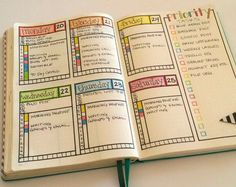 Bullet Journal Weekly Layout Ideas - Sublime Reflection