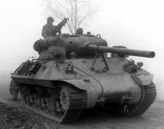 """M36 Jackson tank destroyer. Nicknamed """"TD's"""" by the Americans and the """"Jackson"""" by the British, it was mounted on a Sherman chassis and was the only American armoured vehicle to mount a 90mm gun comparable to the German 88mm gun."""
