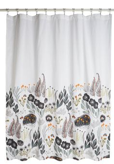 Flutter Beauty Shower Curtain. Add vintage-inspired charm to your laundry routine with this delightful shower curtain! #gold #prom #modcloth