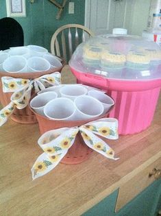 Cupcake flower pot and Oreo sunflower cupcakes